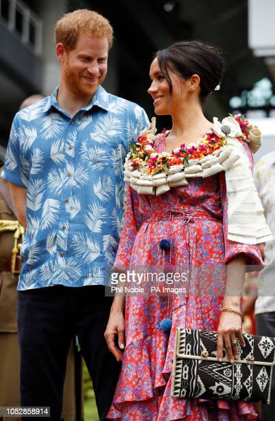 The Duke and Duchess of Sussex visit the University of the South Pacific in Suva Fiji on day two of the royal couple's visit to Fiji