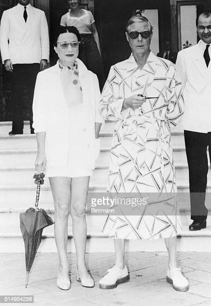 The Duke and Duchess of Windsor are appropriately dressed for a short vacation at the seaside resort of Rapallo on the Italian Riviera The Royal...