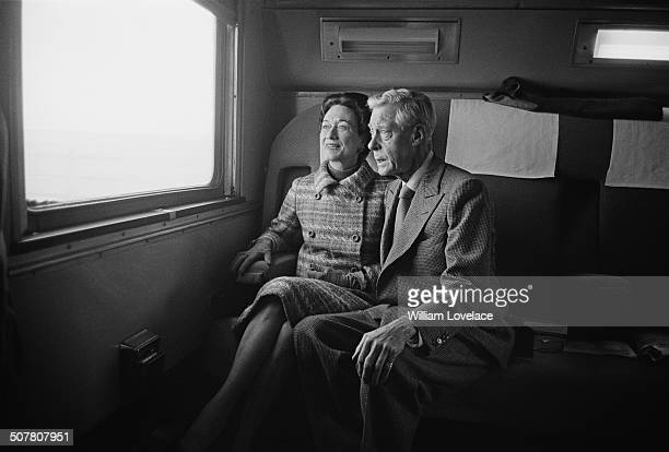The Duke and Duchess of Windsor arrive by train in St Louis Missouri USA 16th December 1964