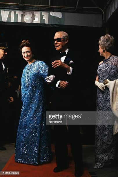 The Duke and Duchess of Windsor arrive for the premiere of the motion picture A King's Story The movie chronicles the Duke's days as Edward VIII of...