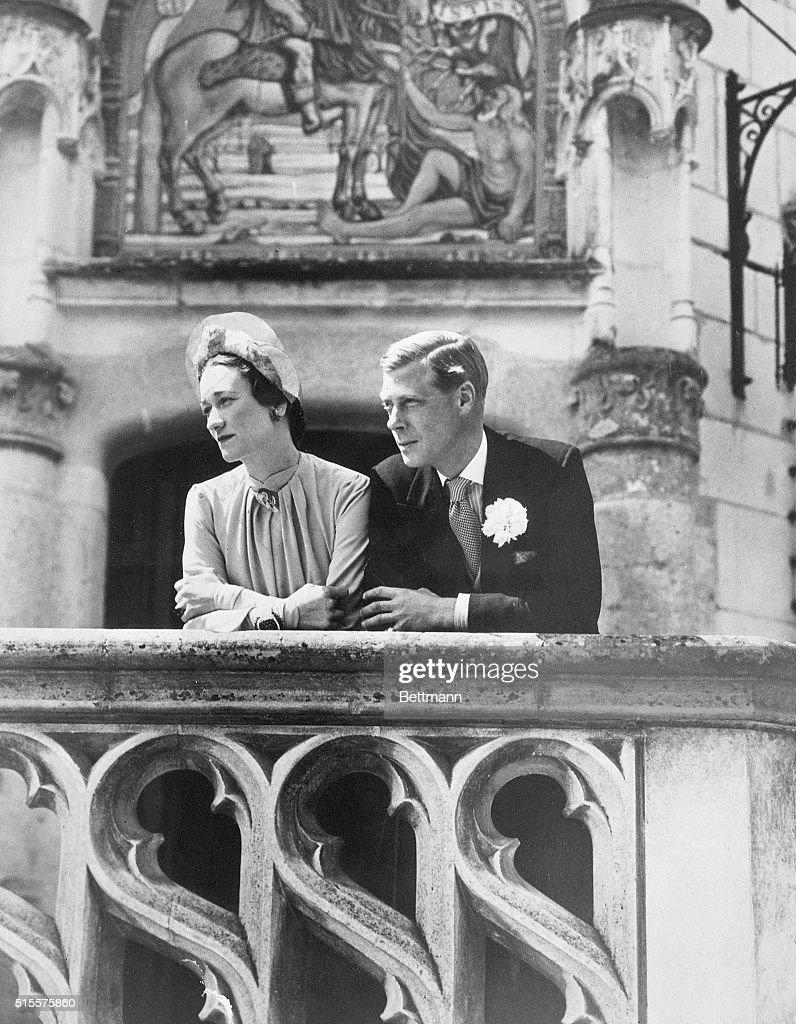Duke And Duchess Of Windsor On Wedding Day : News Photo