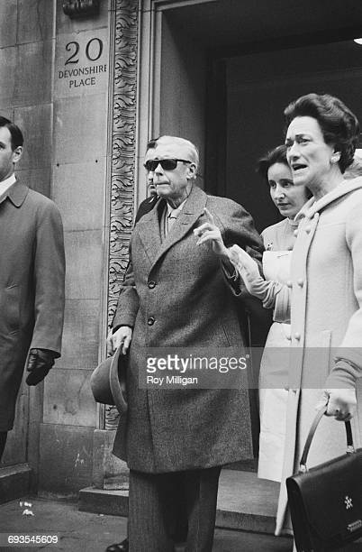 The Duke and Duchess of Windsor leaving The London Clinic at 20 Devonshire Place London 19th March 1965 The Duke had recently suffered a detached...