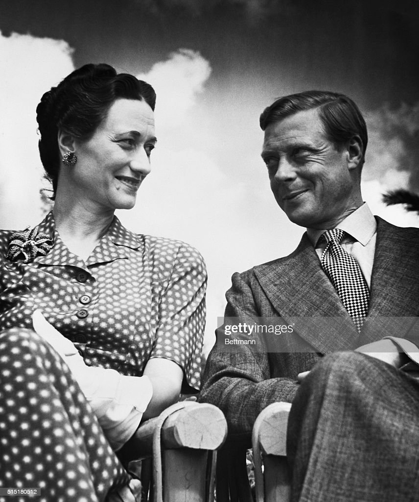 The Duke and Duchess of Windsor seated under an open sky. Undated photograph. BPA2# 2902