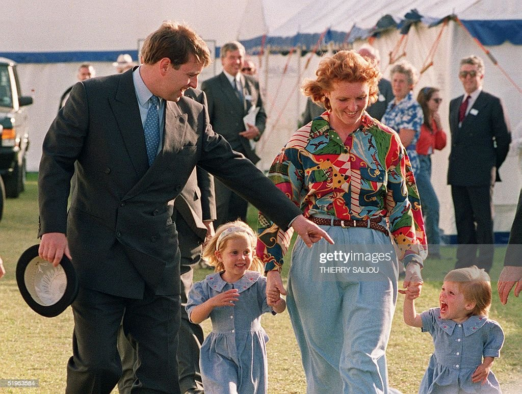 The Duke and Duchess of York appear together with : News Photo