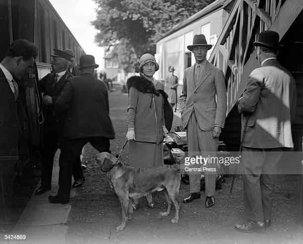 The Duke and Duchess of York arriving at Glamis station in eastern Scotland Upon the abdication of his brother King Edward VIII in 1936 the Duke...