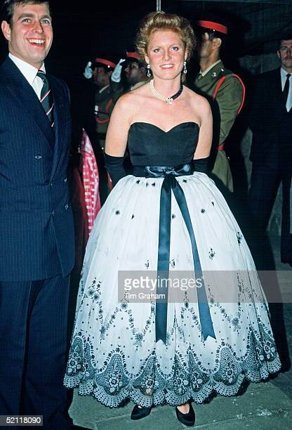 The Duke And Duchess Of York Attending An Evening Function In Mauritius
