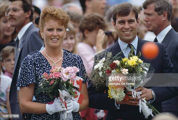 The Duke and Duchess of York during a visit to Canada July 1987