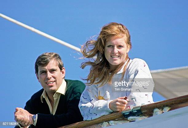 The Duke And Duchess Of York Returning From Their Honeymoon On Board The Royal Yacht Britannia