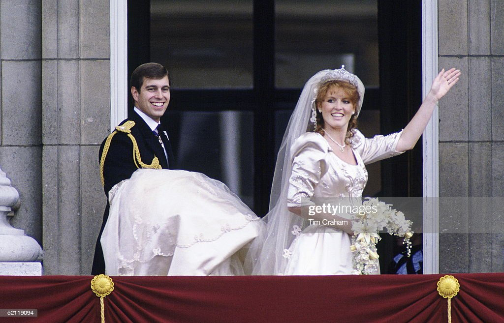 Andrew And Sarah On Wedding Day : News Photo