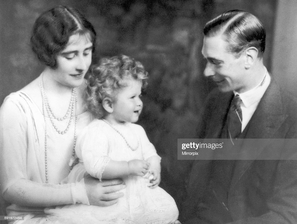 The Duke and Duchess of York with Princess Elizabeth. 1928 : News Photo