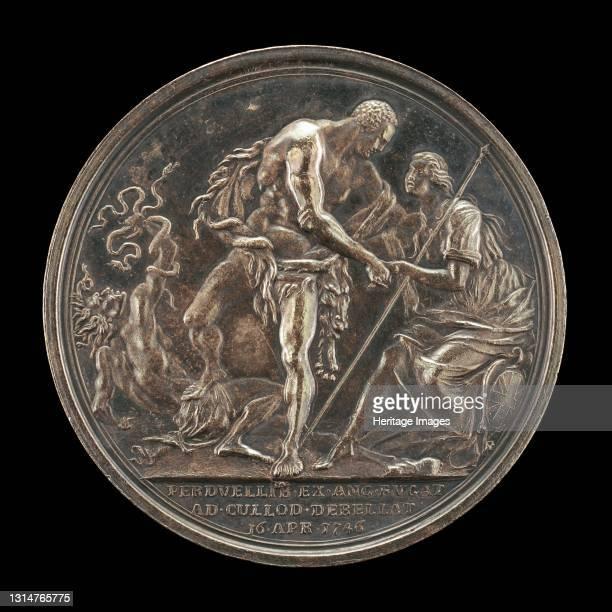 The Duke as Hercules, Overcoming Discord and Raising Britannia [reverse], 1746. Artist Richard Yeo.