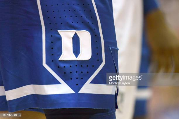 The Duke Blue Devils logo on a pair of shorts during the finals of the Maui Invitational college basketball game against the Gonzaga Bulldogs at the...