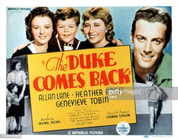 The Duke Comes Back lobbycard Heather Angel Johnny Russell Genevieve Tobin Allan Lane 1937