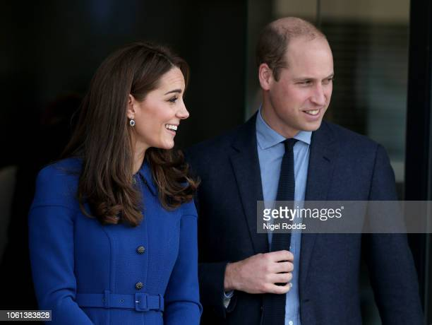 The Duke Duchess Of Cambridge depart after a visit at McLaren Automotive Composites Technology Centre on November 14 2018 in Rotherham England