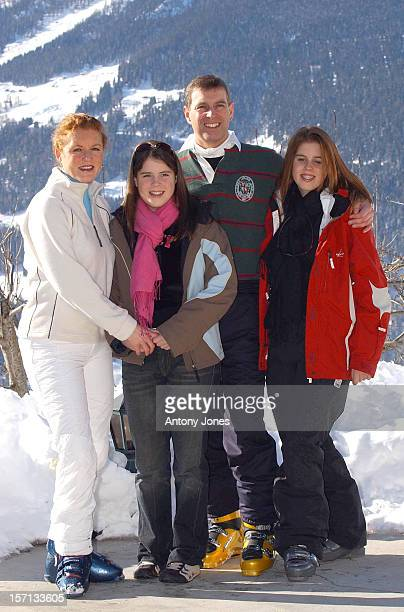 The Duke Duchess Of York And Princesses Beatrice Eugenie Attend A Photocall In Verbier Switzerland