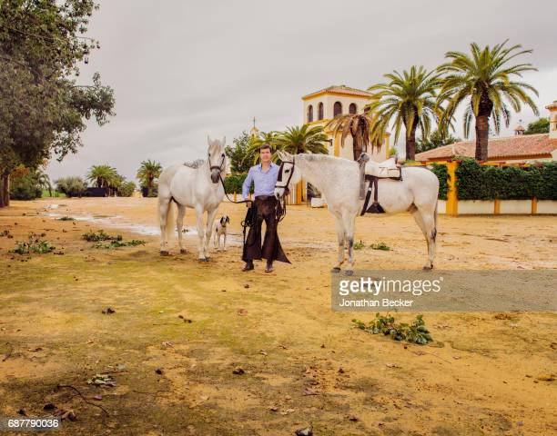 The Duke of Arjona Cayetano Martinez de Irujo is photographed for Vanity Fair Spain on November 21 2016 at his estate Las Arroyuelas in Seville Spain...