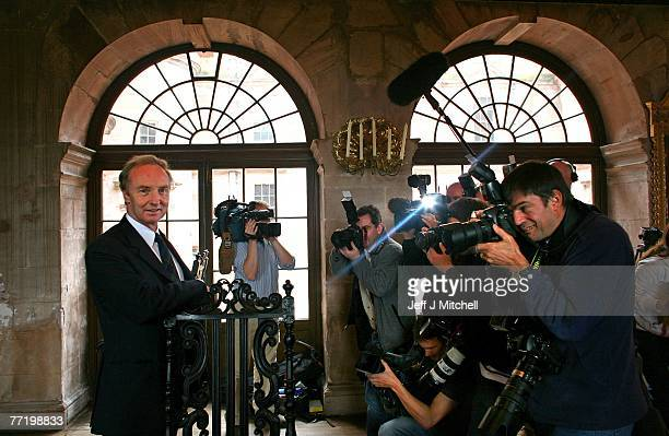 The Duke of Buccleuch stands in the hall of Drumlanrig Castle where a Leonardo de Vinci painting was stolen in 2003 on October 5 2007 in Dumfries...
