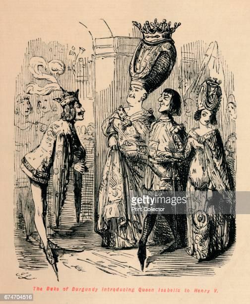 The Duke of Burgundy introducing Queen Isabella to Henry V' c1860 Philip the Good Duke of Burgundy introducing his wife Isabella of Portugal to Henry...