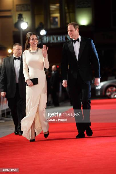 The Duke of Cambridge and HRH The Duchess of Cambridge attend the Royal film performance of Mandela Long Walk To Freedom at The Odeon Leicester...