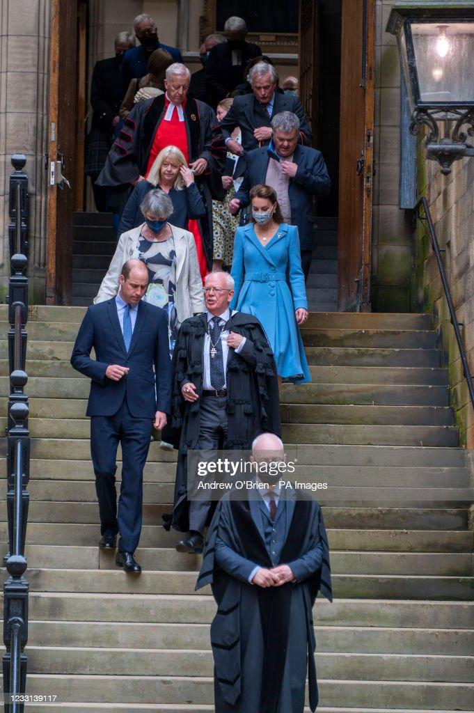 Duke and Duchess of Cambridge tour of Scotland : News Photo