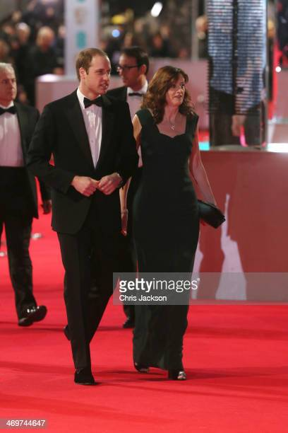 The Duke Of Cambridge attends the EE British Academy Film Awards 2014 at The Royal Opera House on February 16 2014 in London England