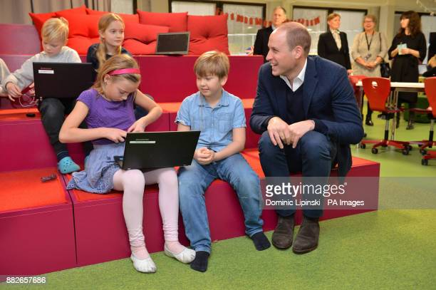 The Duke of Cambridge in a computer programming class as he visits Lauttasaari Comprehensive School in Helsinki to see the ways in which the Finnish...