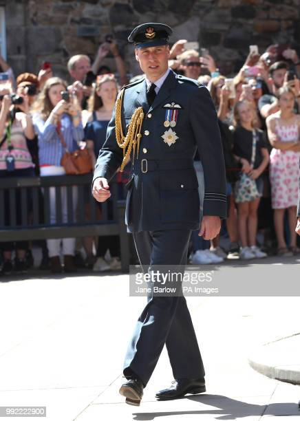 The Duke of Cambridge leaves the Annual Service of Commemoration at the Scottish National War Memorial at Edinburgh Castle