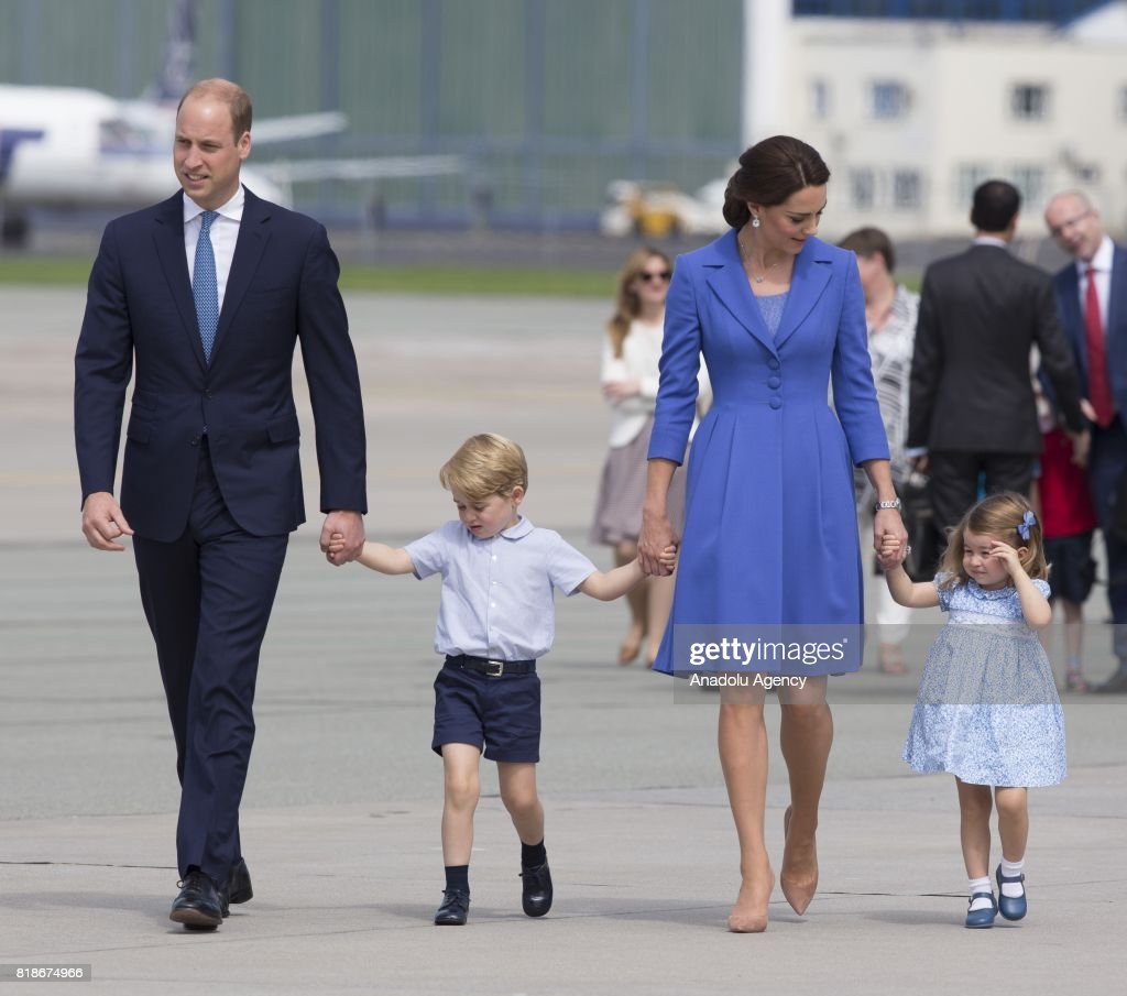 The Duke and Duchess of Cambridge departure from Poland : News Photo