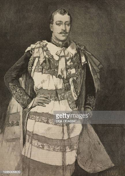 The duke of Clarence and Avondale Albert Victor taking his seat in the House of Lords United Kingdom engraving from The Illustrated London News...