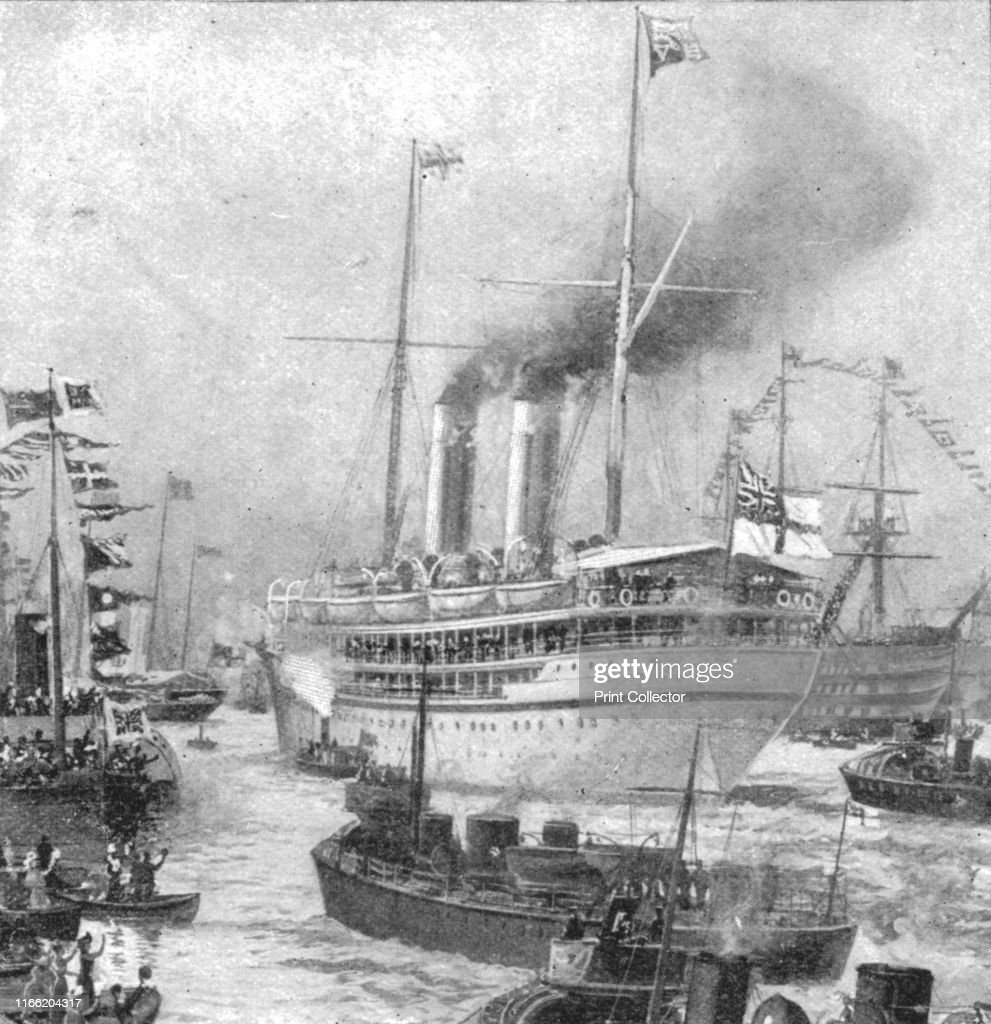 The Duke Of Cornwall And Yorks Colonial TourDeparture Of The Ophir From Portsmouth 19 : News Photo
