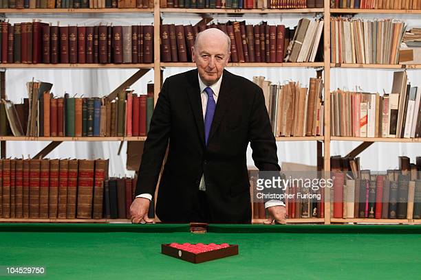 The Duke of Devonshire poses next to some of the many items for sale in the Chatsworth Attic Sale at Chatsworth House on September 29 2010 in...