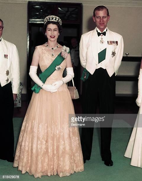 The Duke of Edinburgh and Queen Elizabeth II on their Nigerian tour.