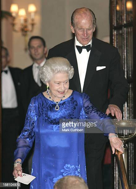 The Duke Of Edinburgh Attends Party To Celebrate Queen Elizabeth'S 80Th Birthday At The Ritz In London. .