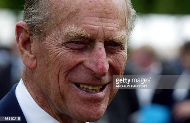 The Duke Of Edinburgh attends The Duke of Edinburgh Gold Award presentation Ceremony at the Palace Of Holyroodhouse Edinburgh 02 July 2003 AFP...