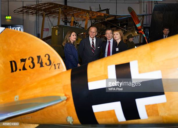 The Duke Of Edinburgh attends the opening of the 'First World War In The Air' exhibition at the RAF museum in Hendon where The Duke was shown around...
