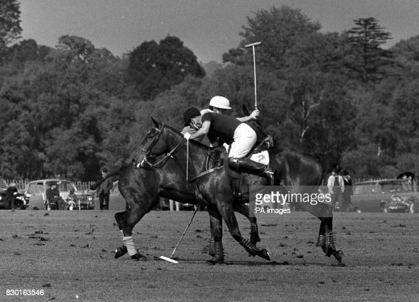 The Duke of Edinburgh in action during a Polo Match at Smith's Lawn in Windsor Great Park