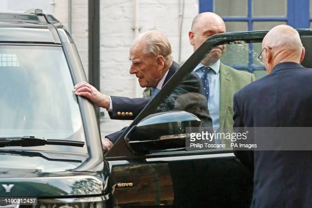 The Duke of Edinburgh leaves King Edward VII Hospital in London, after being admitted last Friday for observation and treatment in relation to a...