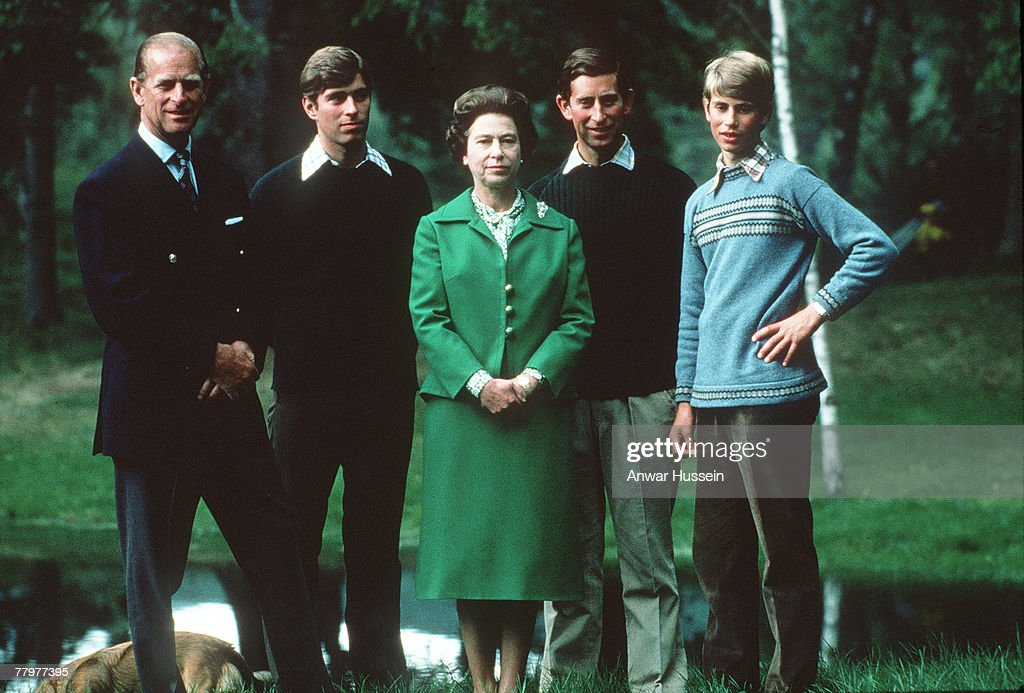 The Royal Family on Holiday in Balmoral, Scotland - 1975 : News Photo