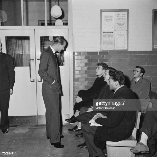 The Duke of Edinburgh visits Holloway Employment Exchange in London 17th November 1960