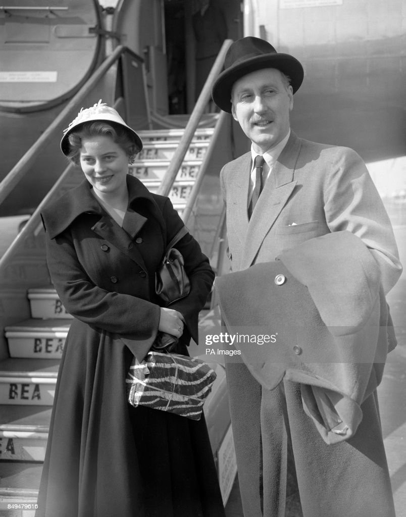 Royalty - Princess Margarita of Baden and her father Prince Bertfold, Margrave of Baden - London Airport : News Photo