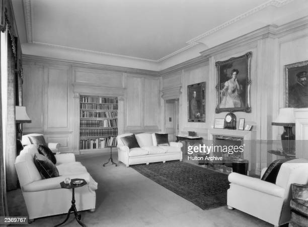 The Duke of Edinburgh's sitting room in Clarence House, London, 1949. The house was built in 1825-27 by John Nash for the Duke of Clarence, later...
