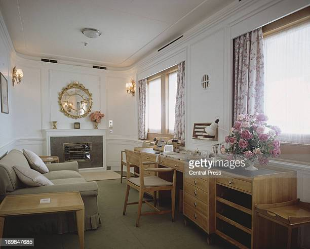 The Duke of Edinburgh's Sitting Room on the Royal Yacht Britannia 1981