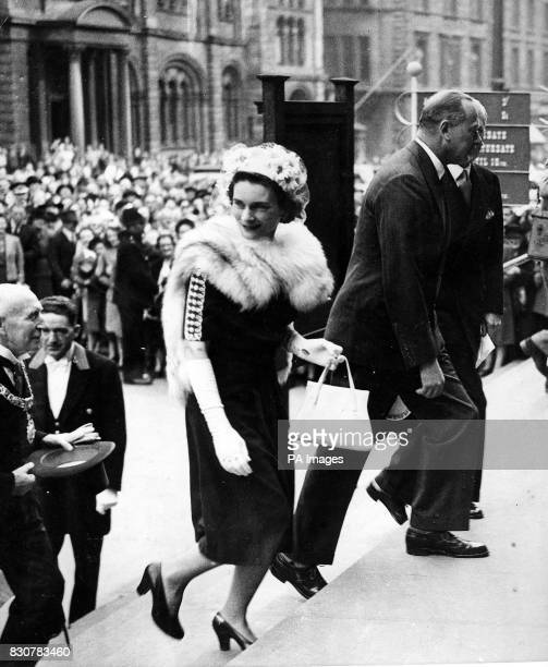 The Duke of Gloucester accompanied by the Duchess of Gloucester arriving to open the Royal Scottish Museum in Edinburgh * 23/12/01 Princess Alice...