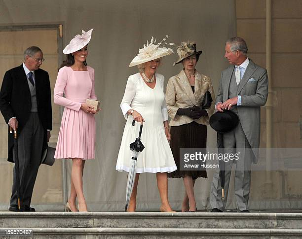 The Duke of Gloucester, Catherine, Duchess of Cambridge, Camilla, Duchess of Cornwall, Princess Anne, the Princess Royal and Prince Charles, Prince...