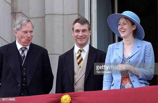 The Duke Of Gloucester Laughing With Alexander Earl Of Ulster And His New Wife Claire Countess Of Ulster The Duke And His Son Are Wearing Formal...