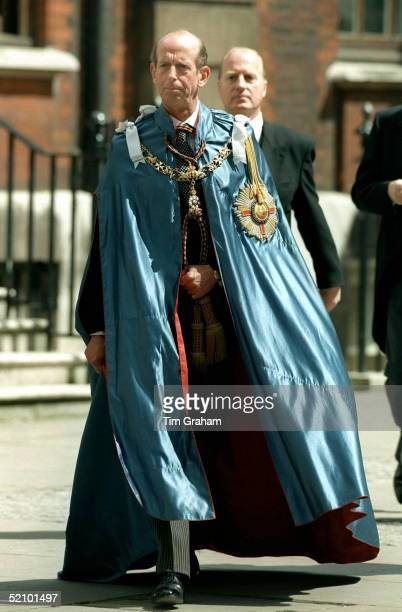 The Duke Of Kent Grand Master Attending The Order Of St Michael And St George At St Paul's Cathedral London