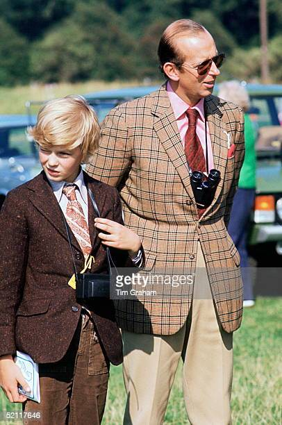 The Duke Of Kent With His Son George The Earl Of St Andrew At The Royal Windsor Horse Show