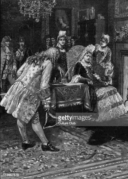 The Duke of Marlborough's Interview with Queen Anne following his wife's disobedience of the Queen's commands ca 1711