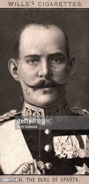The Duke of Sparta, 1908. Portraits of European Royalty, Wills's Cigarette Cards, Bristol & London.