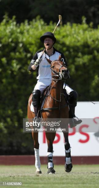 The Duke of Sussex takes part in the Sentebale ISPS Handa Polo Cup at the Roma Polo Club in Rome, Italy.
